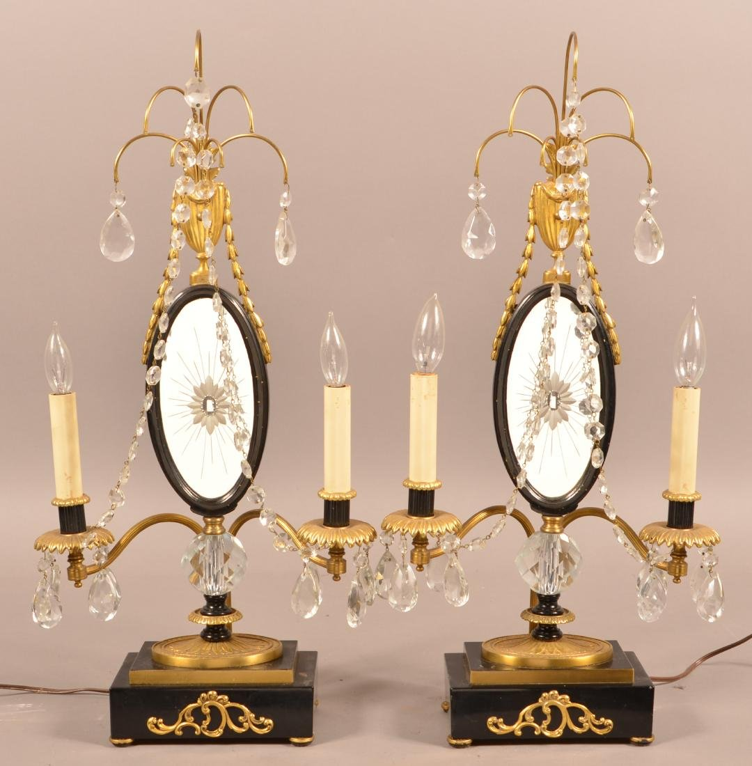 Pair of Period Style Electric Table Sconces.