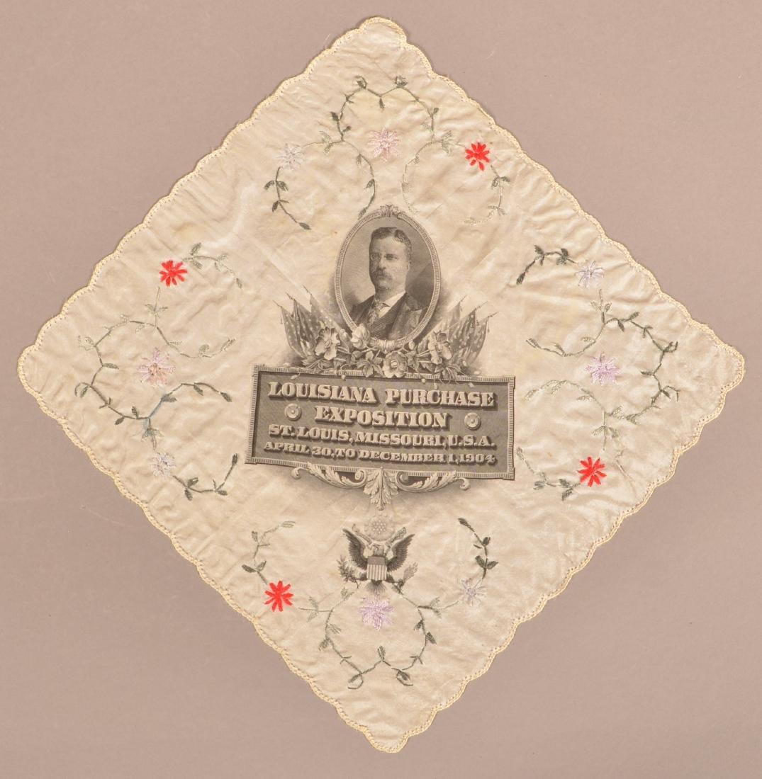 Louisiana Purchase Exposition Silk Handkerchief.