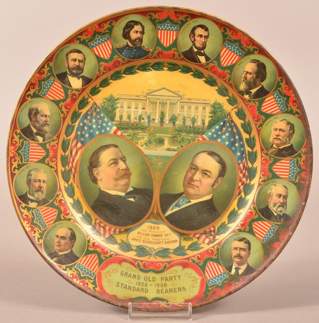 Two Antique Tin Lithograph Political Trays. - 2