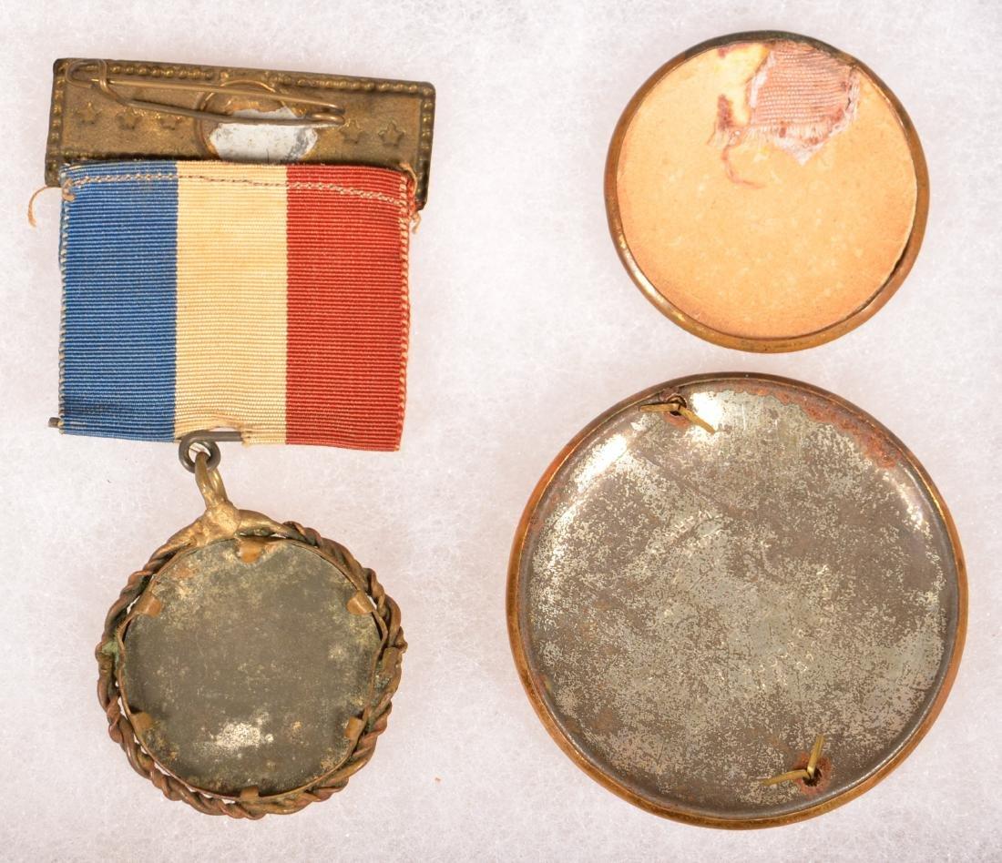 Three Various Andrew Jackson Pins/Ribbons. - 2