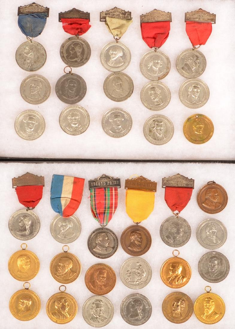 34 Antique/Vintage Drawing Compotistion Medals.