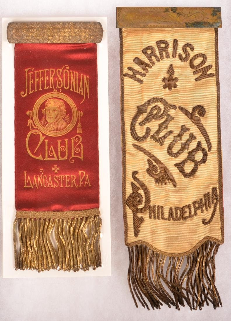 Jefferson and Harrison Club Ribbons.