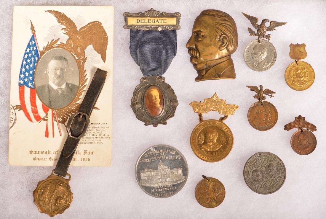 Lot of Political Items Cleveland Taft & Roosevelt.