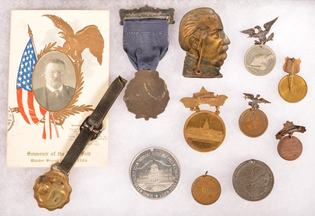 Lot of Political Items Cleveland Taft & Roosevelt. - 2