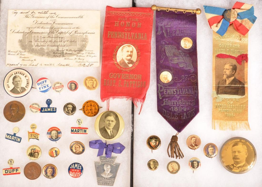 Lot of Pennsylvania Governor Political Items.