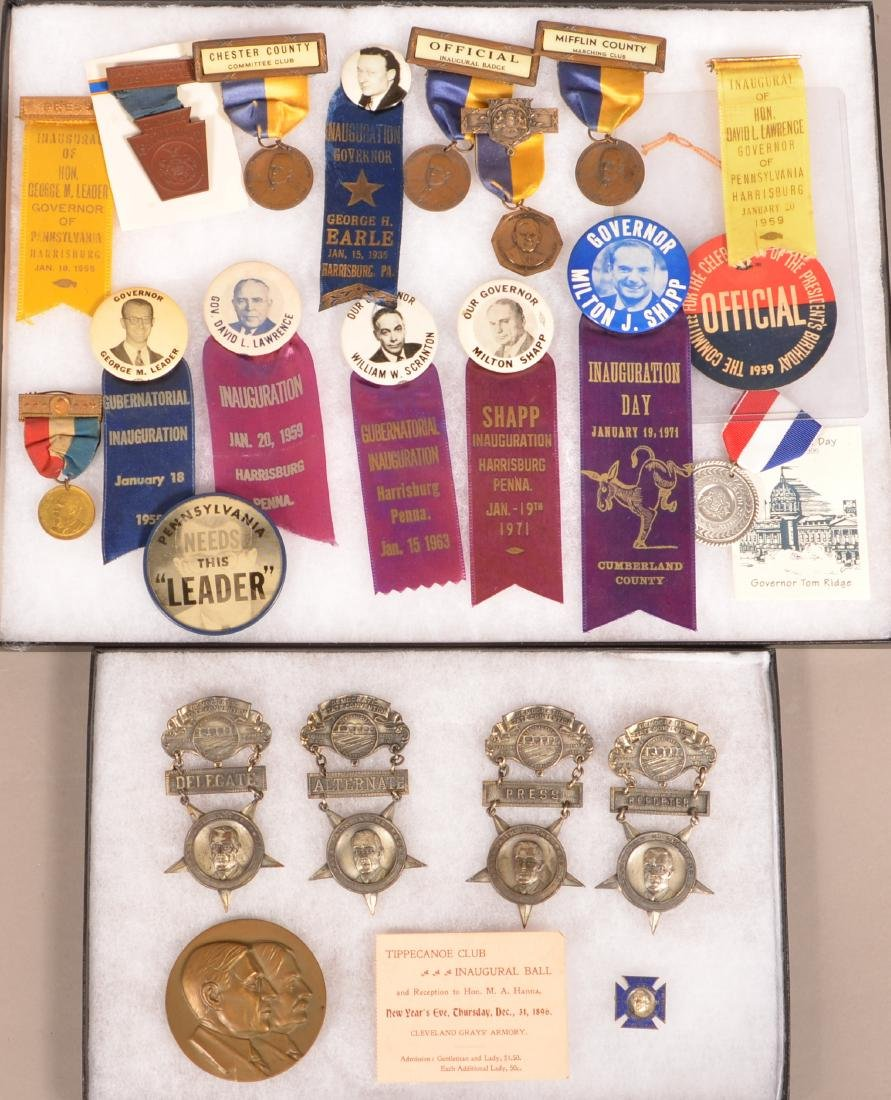Lot of Various Political ribbons and Badges.