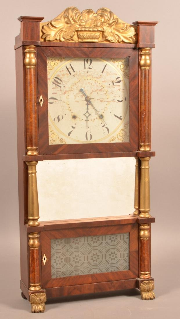 Federal Mahogany Triple Decker Shelf Clock. - 2