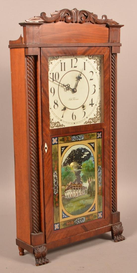 Seth Thomas Mahogany Case Shelf Clock. - 3