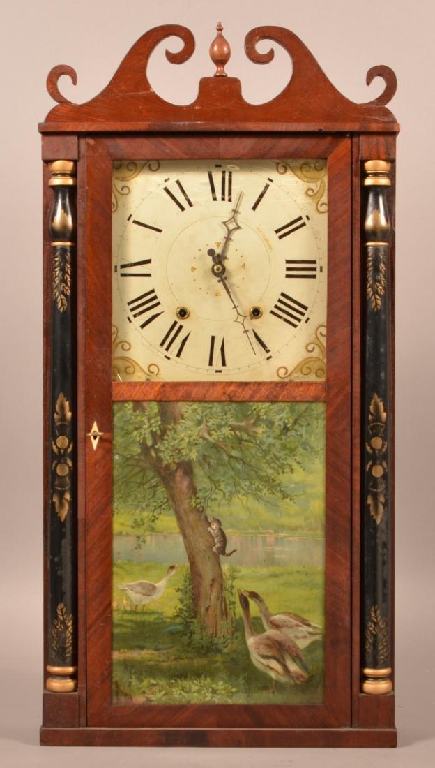 Norton, Preston & Co. Mahogany Shelf Clock.
