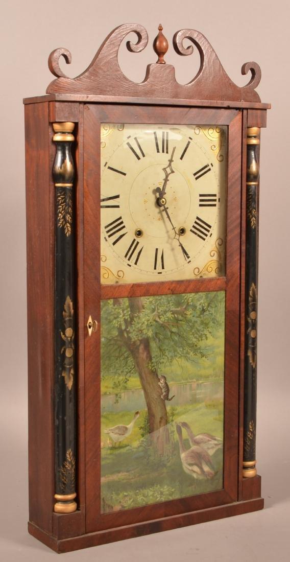 Norton, Preston & Co. Mahogany Shelf Clock. - 2