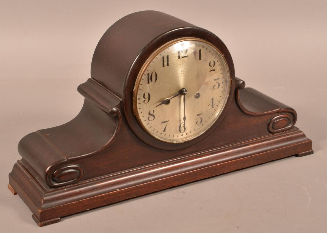 Wurttemberg German Mahogany Mantel Clock.
