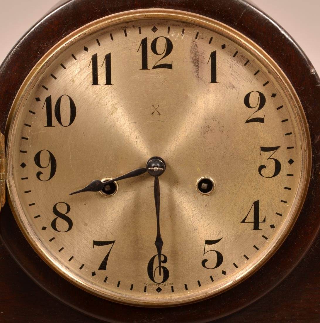Wurttemberg German Mahogany Mantel Clock. - 2