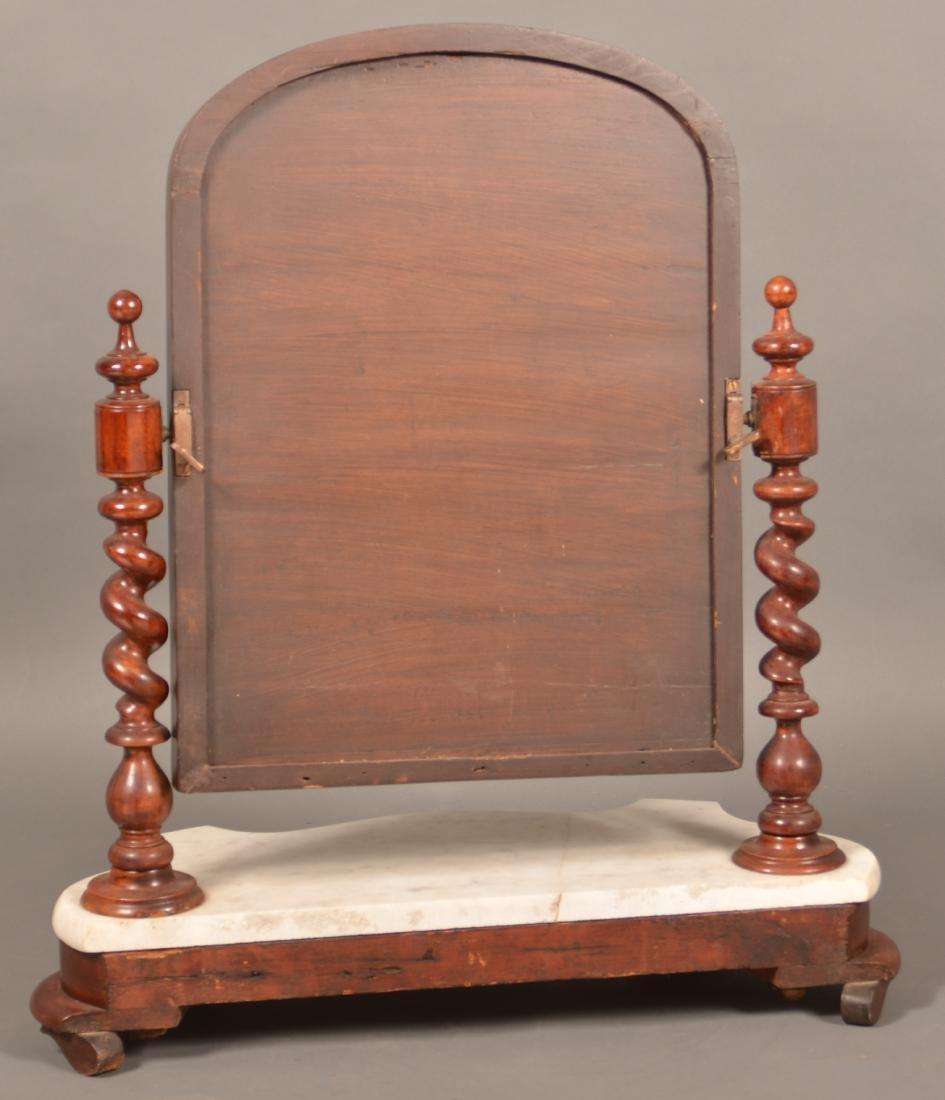 Victorian Mahogany Marble Top Shaving Mirror. - 2