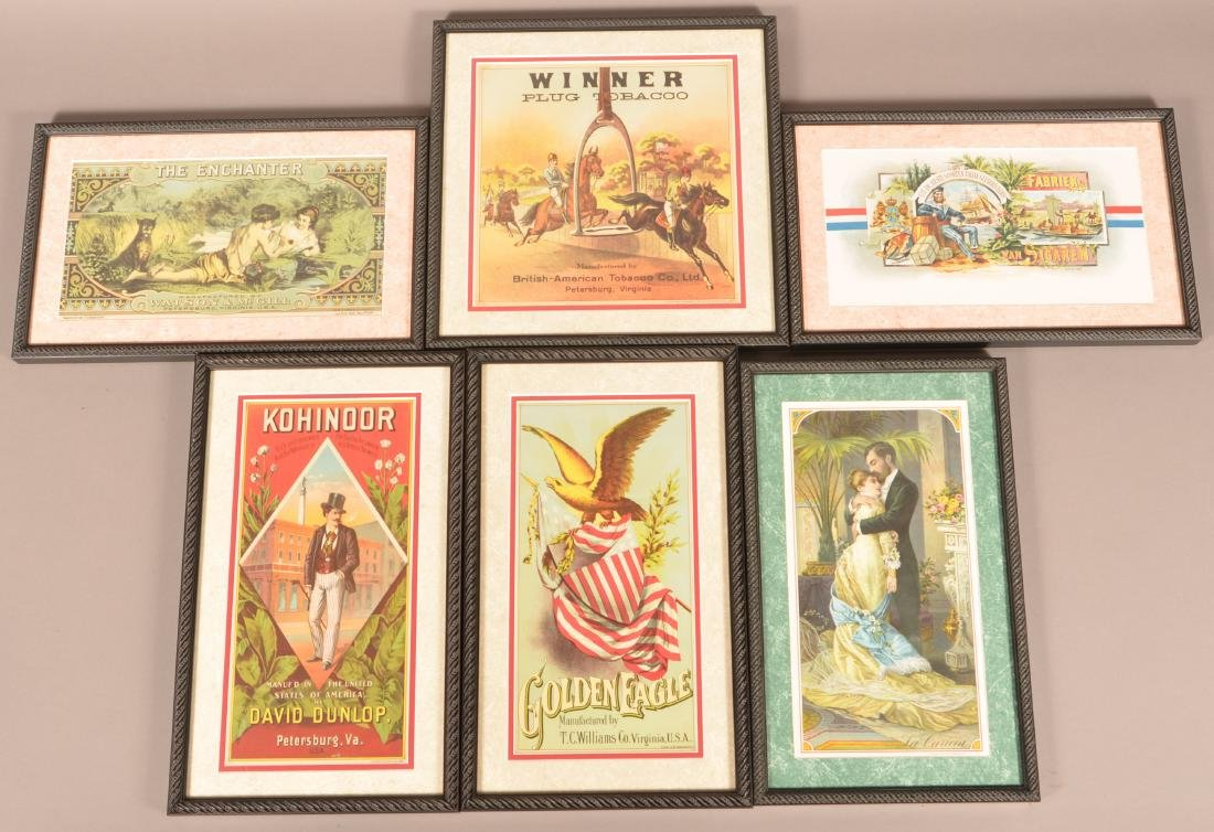 Six Vintage Cigar Crate Labels.