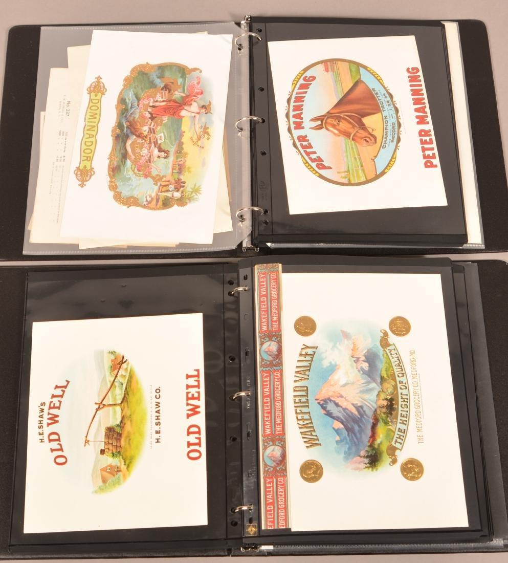 Two Binders of Vintage Cigar Labels. - 4
