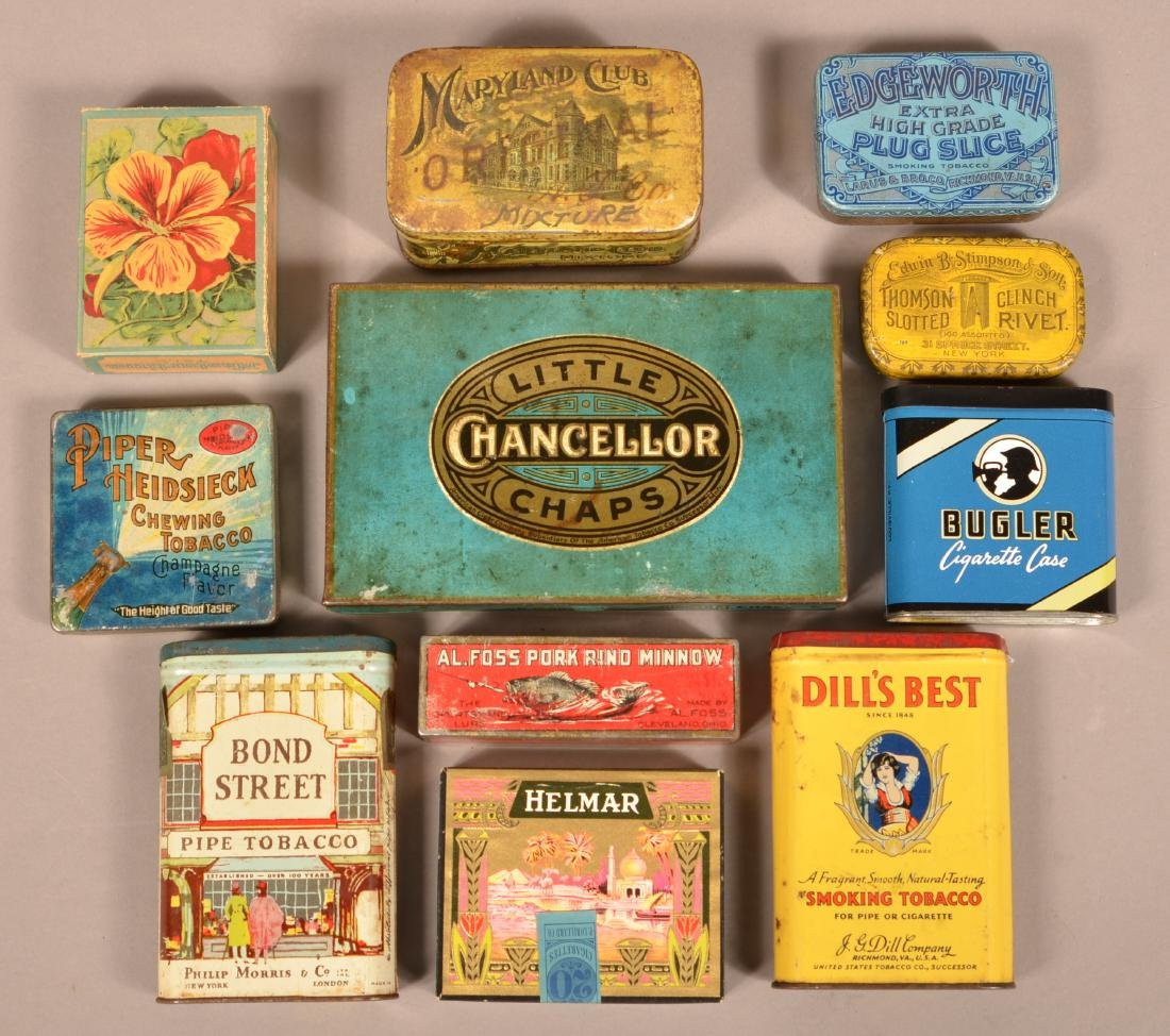 Lot of Various Lithograph Tobacco Tins. - 2