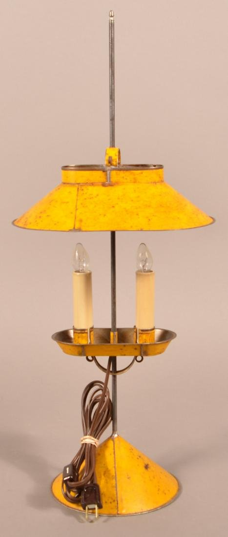 Jerry Martin Mustard Painted Tin Student Lamp. - 3