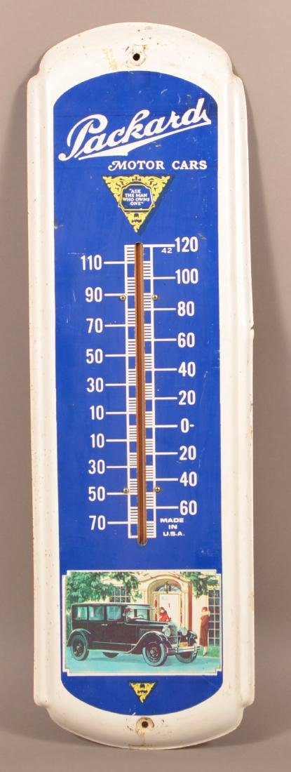 Packard  Tin Litho. Advertising Thermometer.
