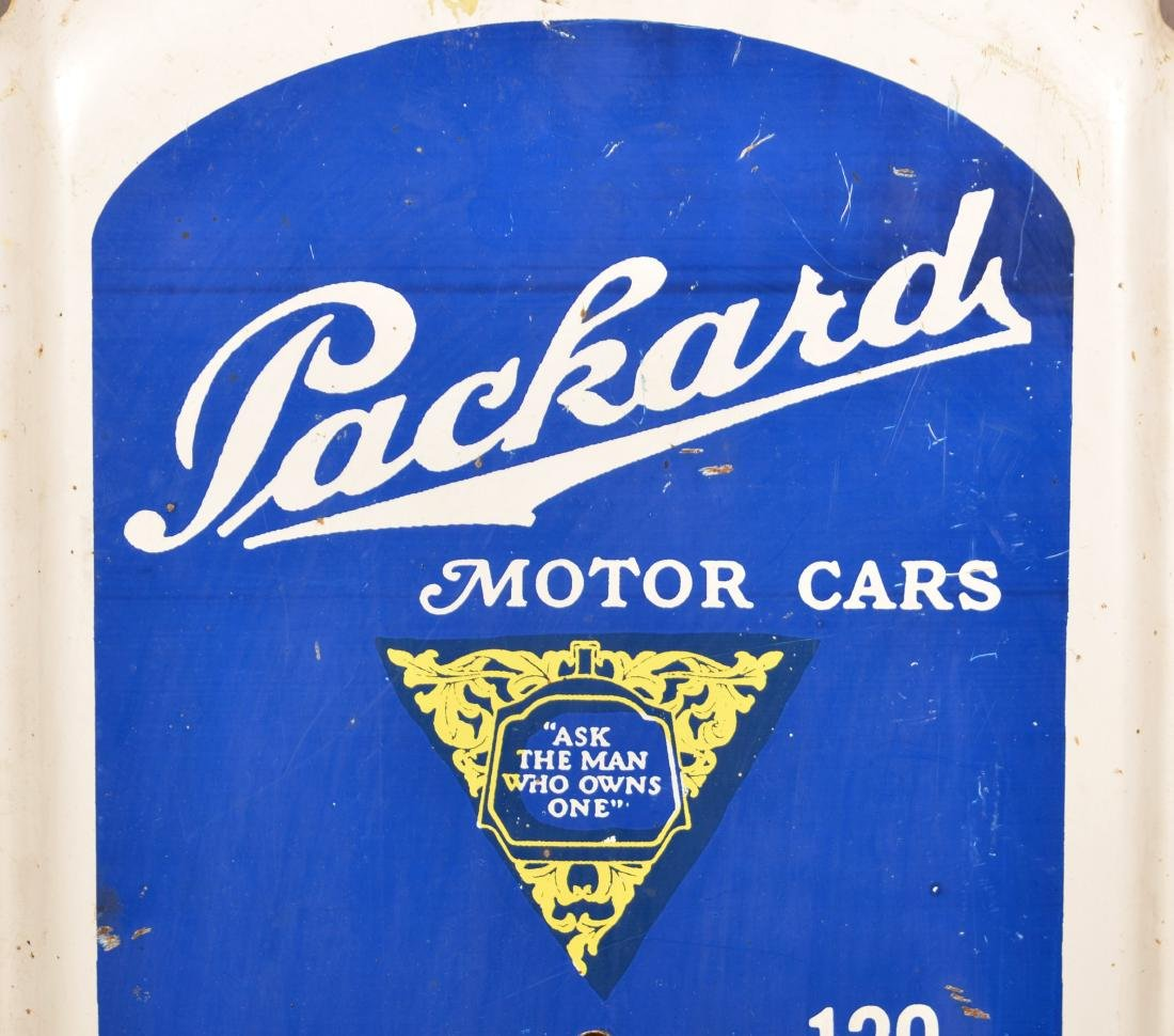 Packard  Tin Litho. Advertising Thermometer. - 2