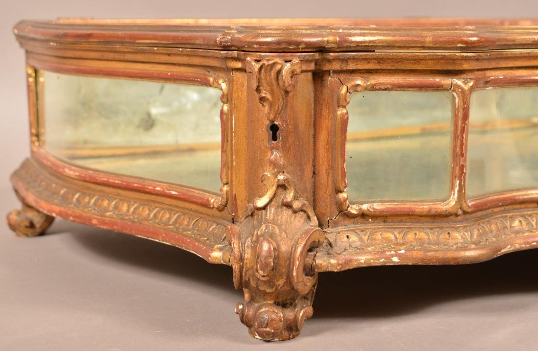 Antique Carved and Gilt Table Top Curio Cabinet. - 2