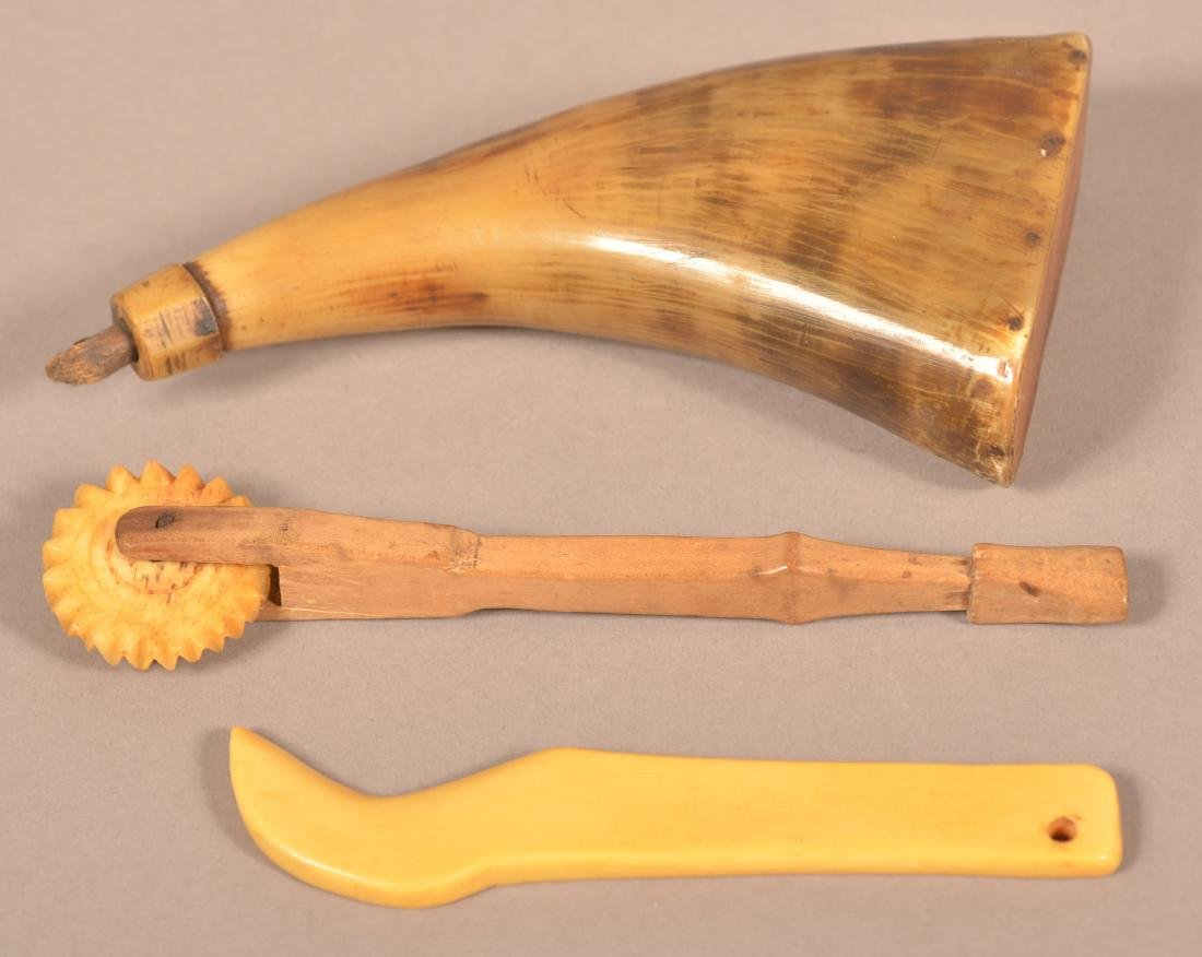 Three Pieces of Antique Horn and Bone.