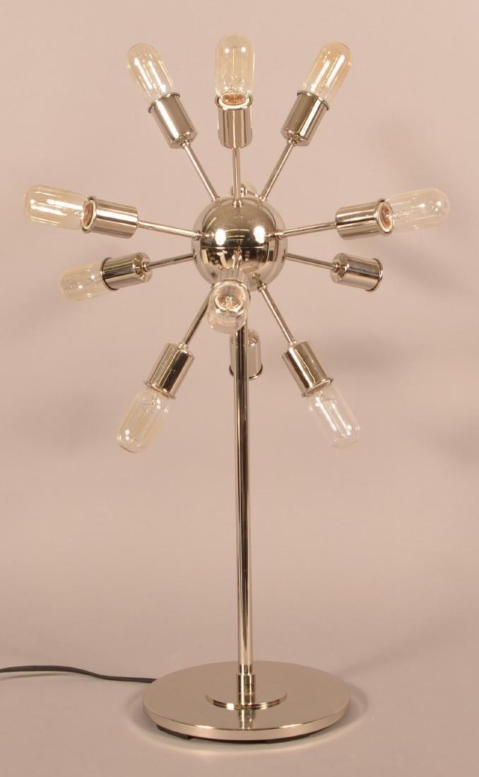 Intertek 1970's Modern Chrome Sputnik Lamp.
