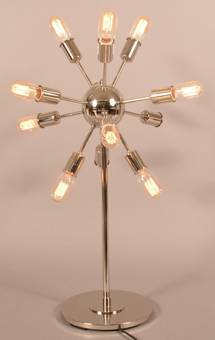 Intertek 1970's Modern Chrome Sputnik Lamp. - 2