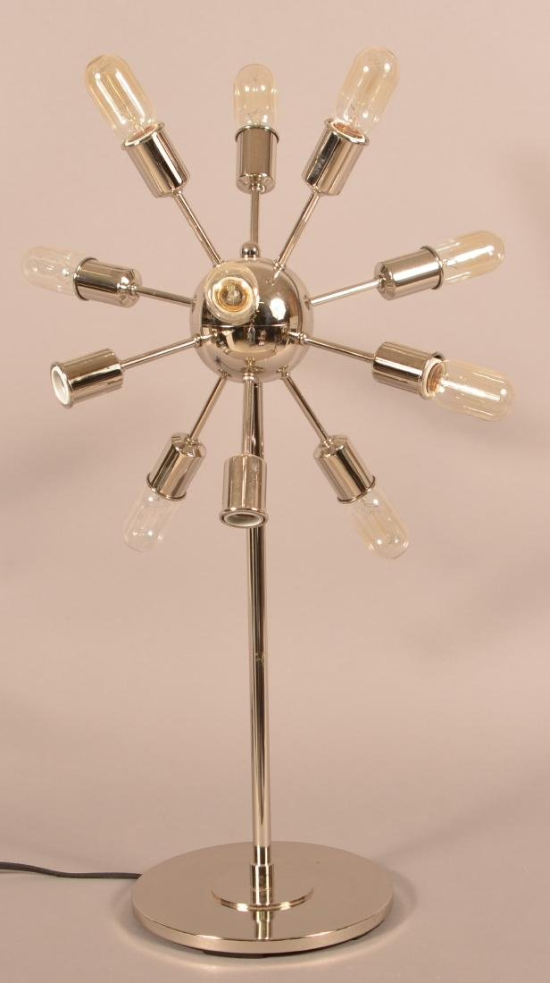 Intertek 1970's Modern Chrome Sputnik Lamp. - 3