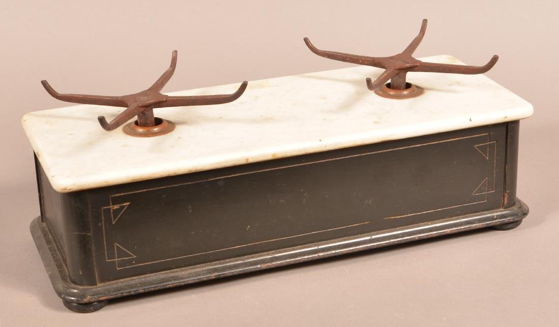 Eastlake Victorian Marble Top Balance Scale. - 3