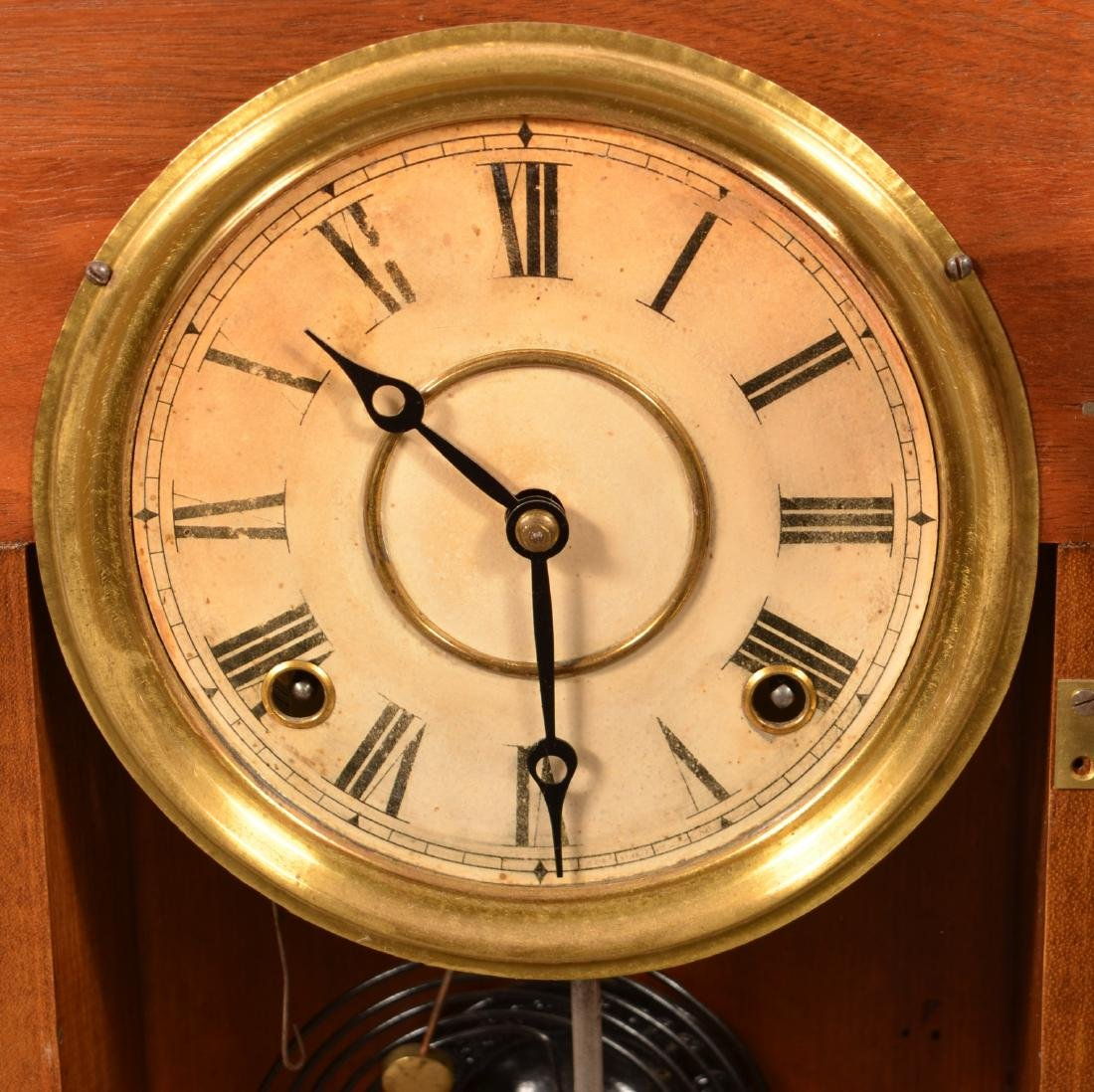 Ingraham Victorian Walnut Case Shelf Clock. - 2