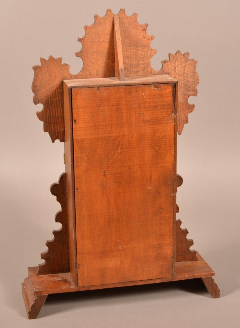 Ingraham Victorian Walnut Case Shelf Clock. - 3