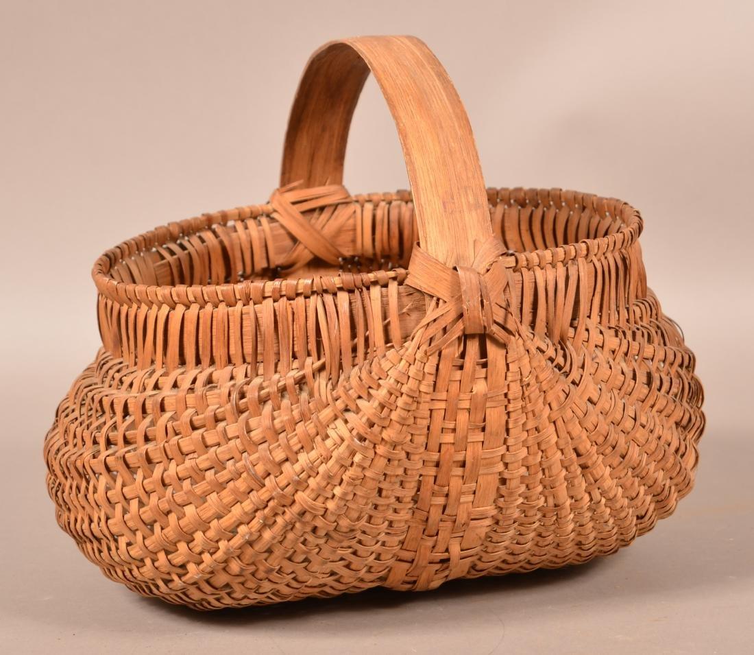 Woven Oak Splint Orsch Backe Market Basket.