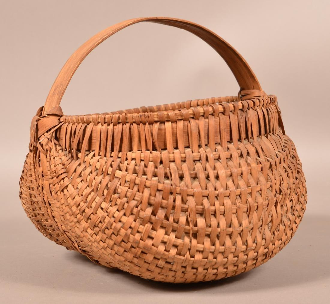 Woven Oak Splint Orsch Backe Market Basket. - 3