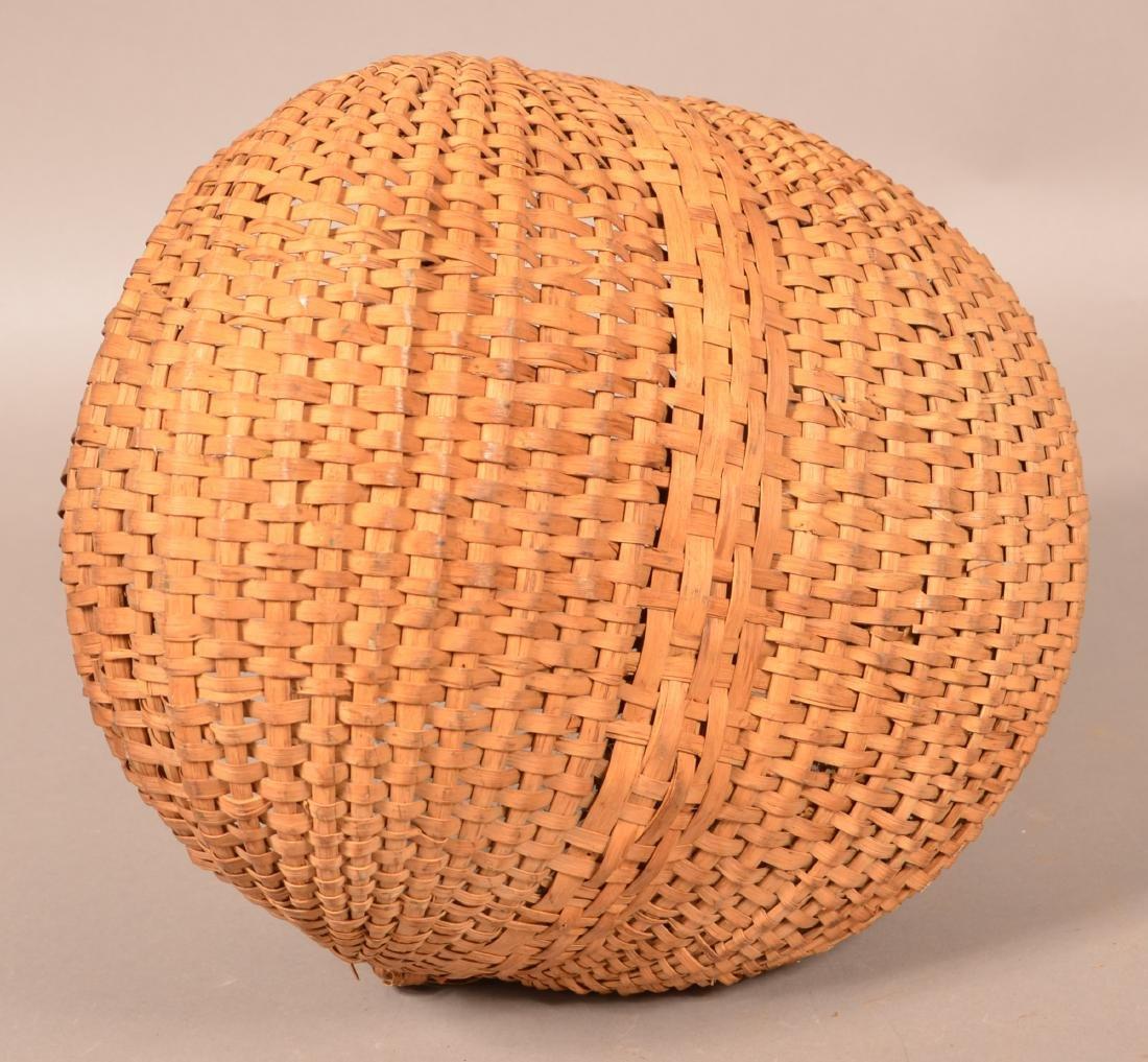 Woven Oak Splint Orsch Backe Market Basket. - 4
