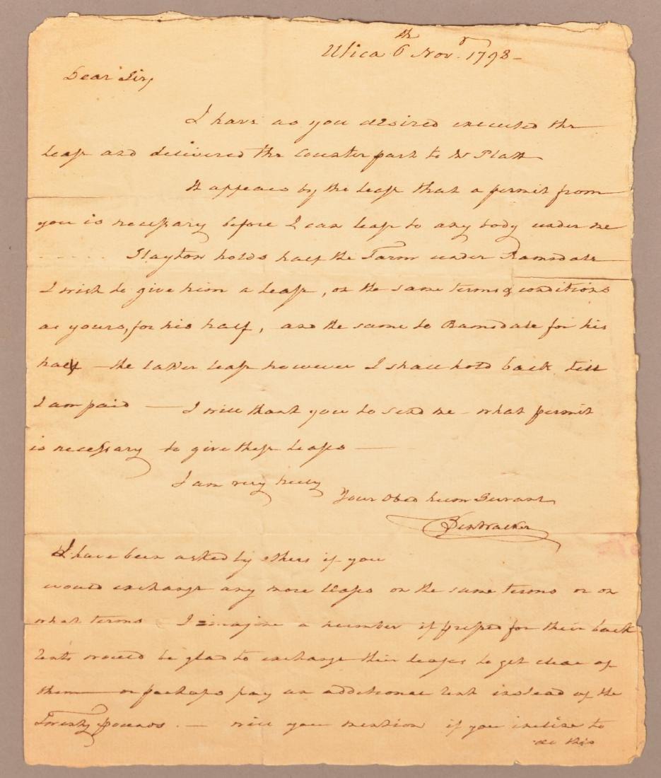 1 pc.Captain Benjamin Walker (1753-1818) Autograph