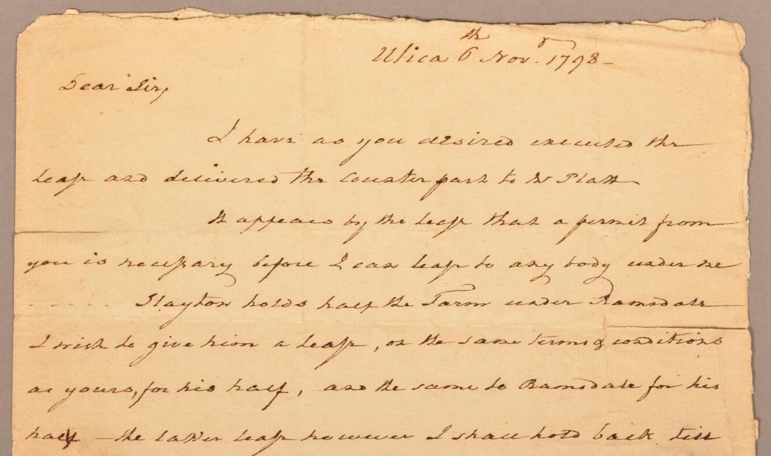 1 pc.Captain Benjamin Walker (1753-1818) Autograph - 2