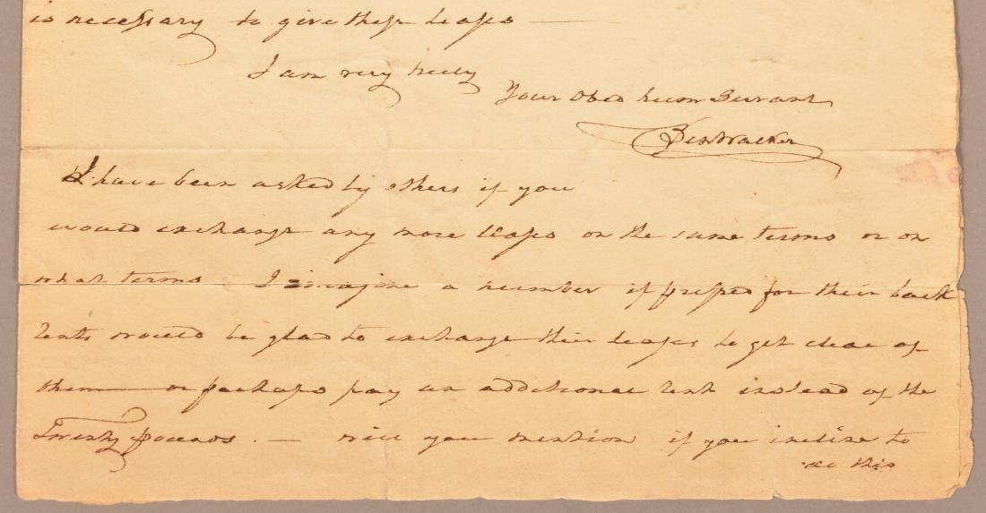 1 pc.Captain Benjamin Walker (1753-1818) Autograph - 3