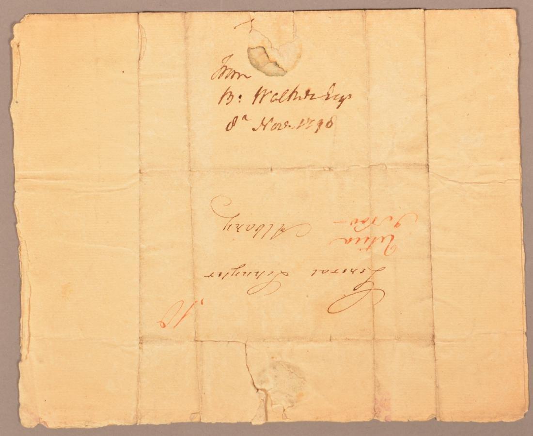 1 pc.Captain Benjamin Walker (1753-1818) Autograph - 4