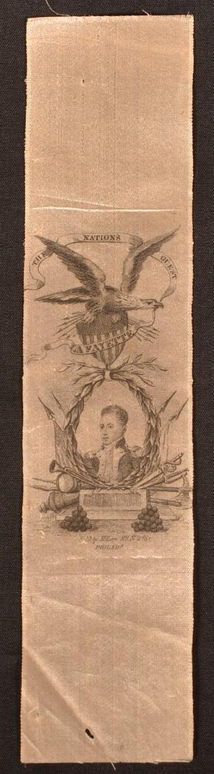 1 pc.Silk Ribbon Commemorating the Visit of Lafayette - 2