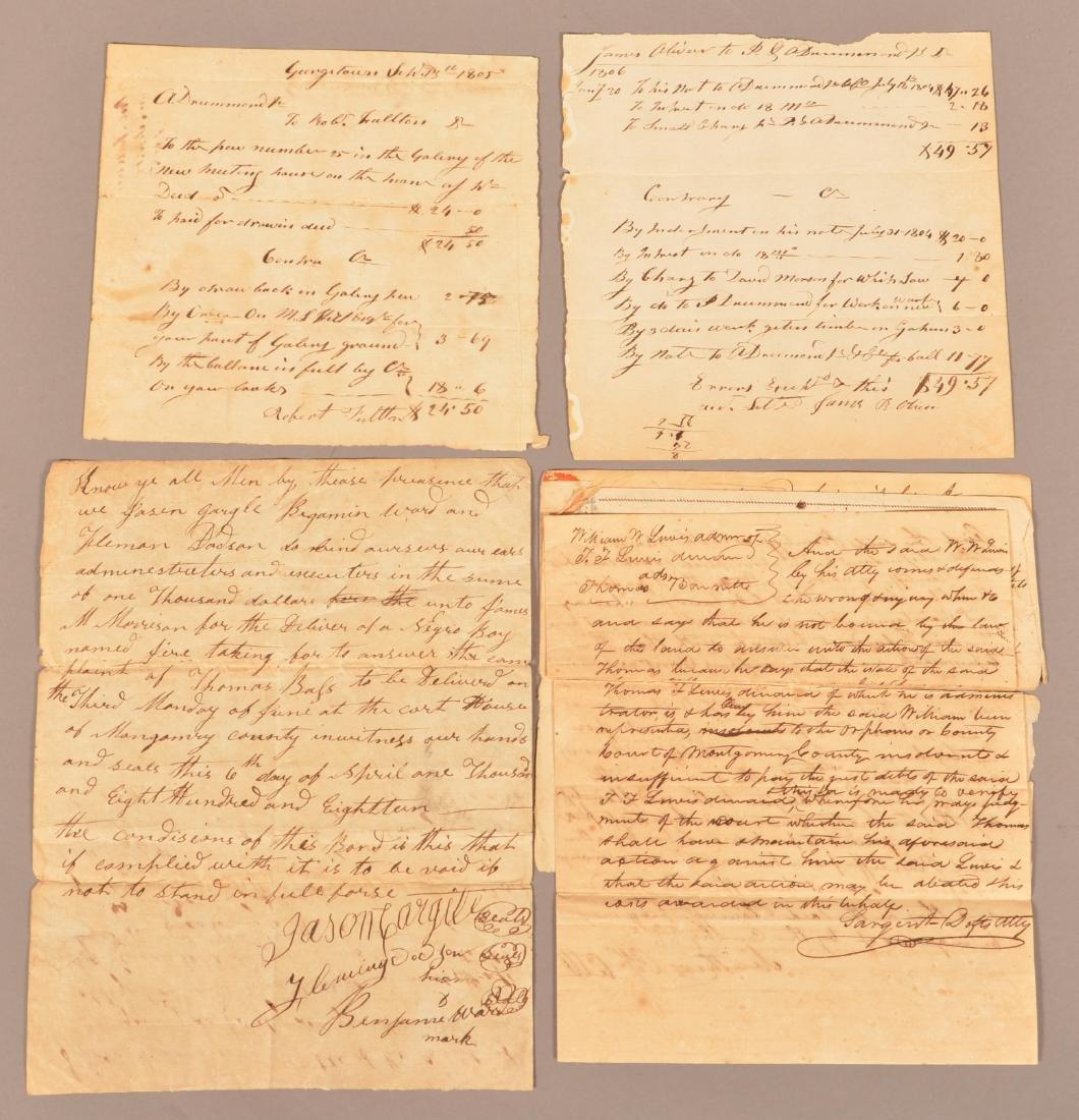 4 pcs. (Slavery) Montogomery Co. Alabama, 1818