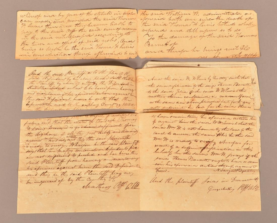 4 pcs. (Slavery) Montogomery Co. Alabama, 1818 - 2