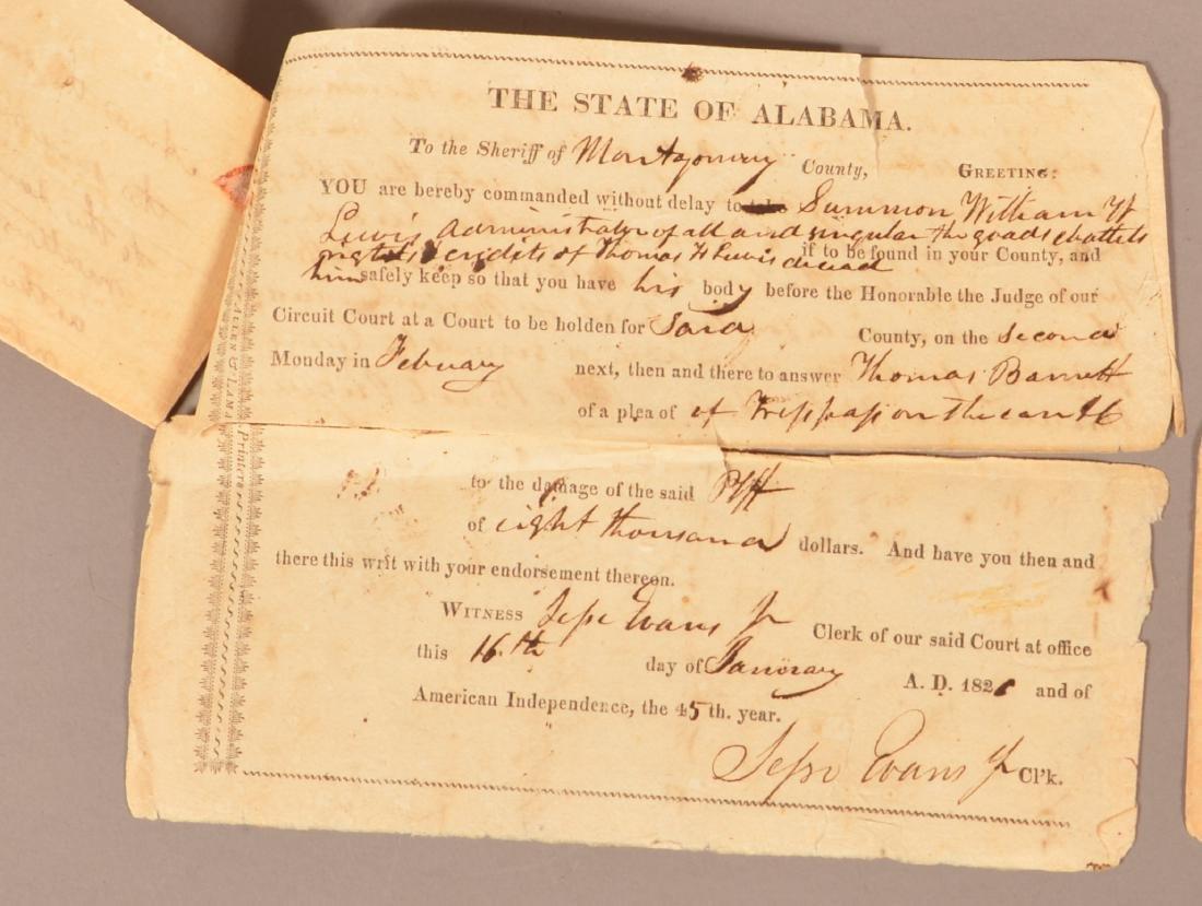4 pcs. (Slavery) Montogomery Co. Alabama, 1818 - 3