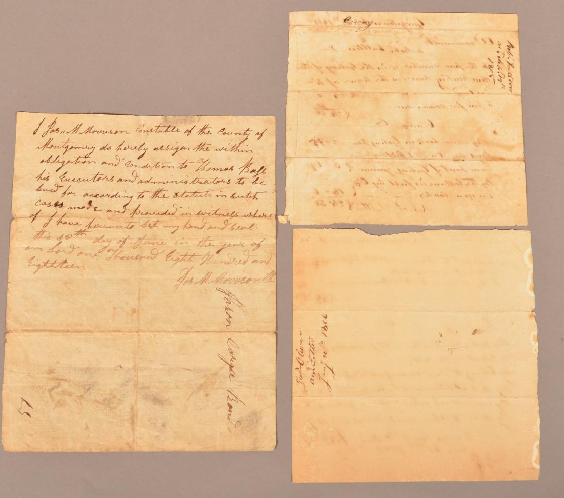 4 pcs. (Slavery) Montogomery Co. Alabama, 1818 - 4