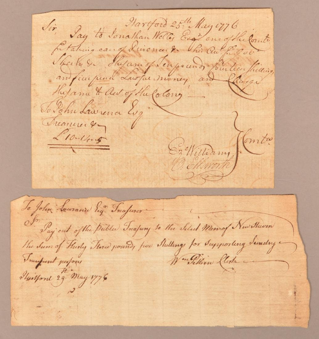 2 pcs. Two 1776 hand written documents
