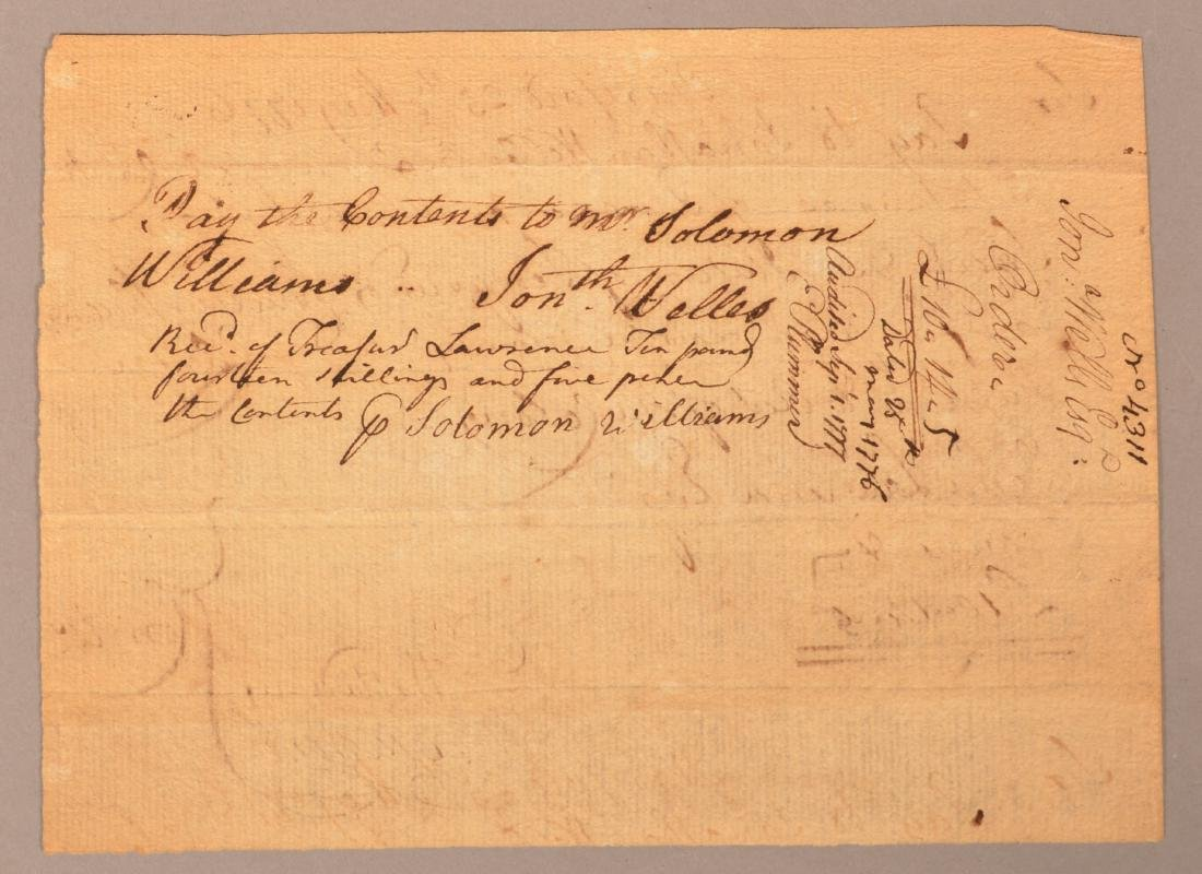 2 pcs. Two 1776 hand written documents - 3