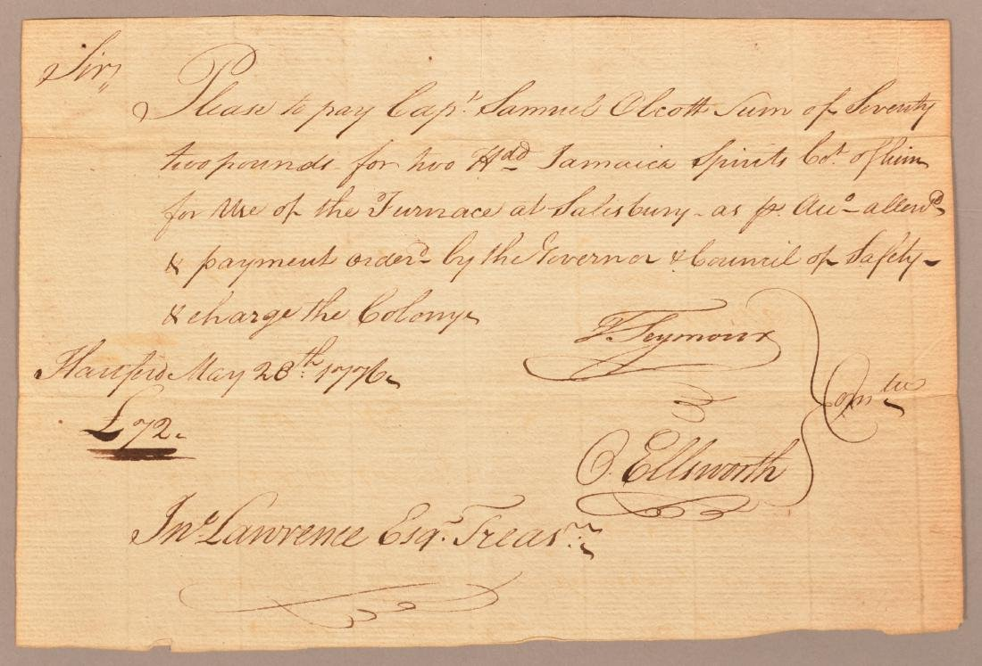 2 pcs Two May 1776 hand written documents - 2