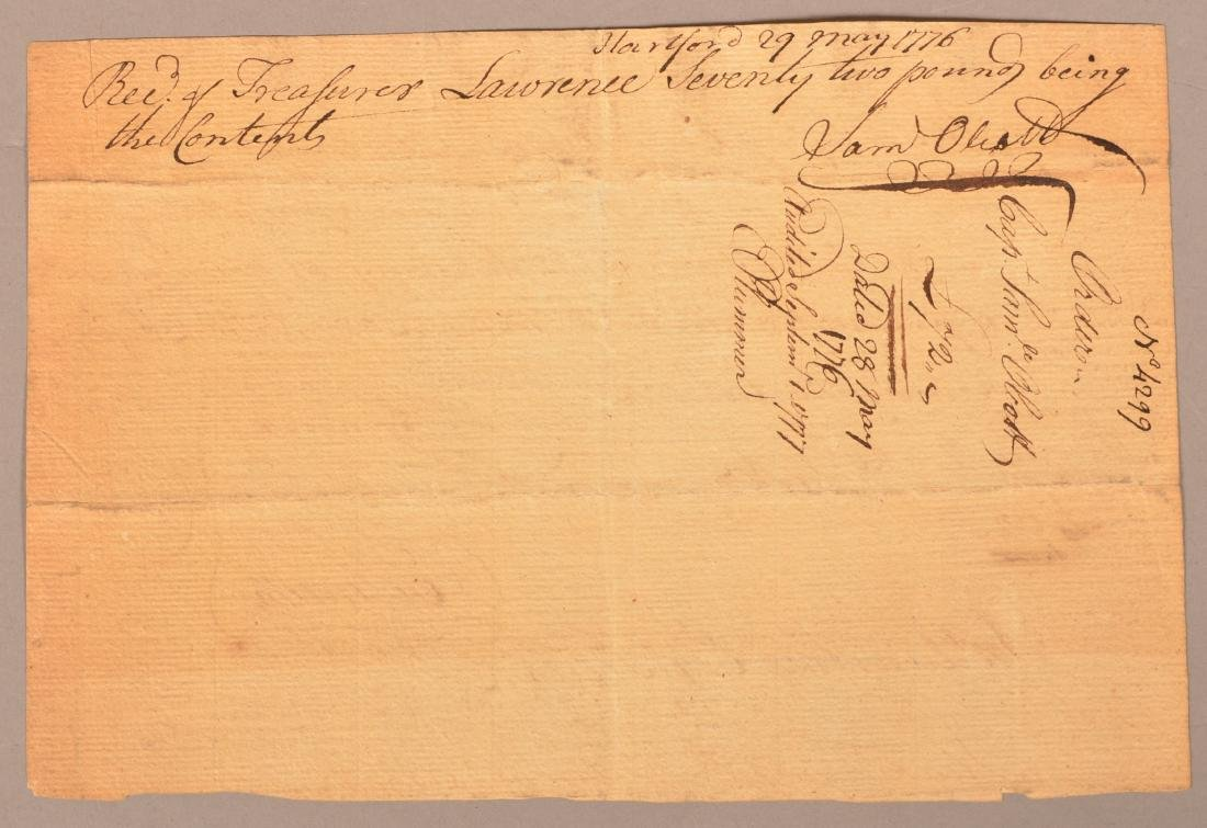 2 pcs Two May 1776 hand written documents - 3