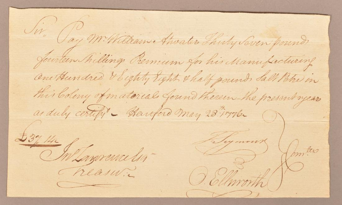 2 pcs Two May 1776 hand written documents - 4