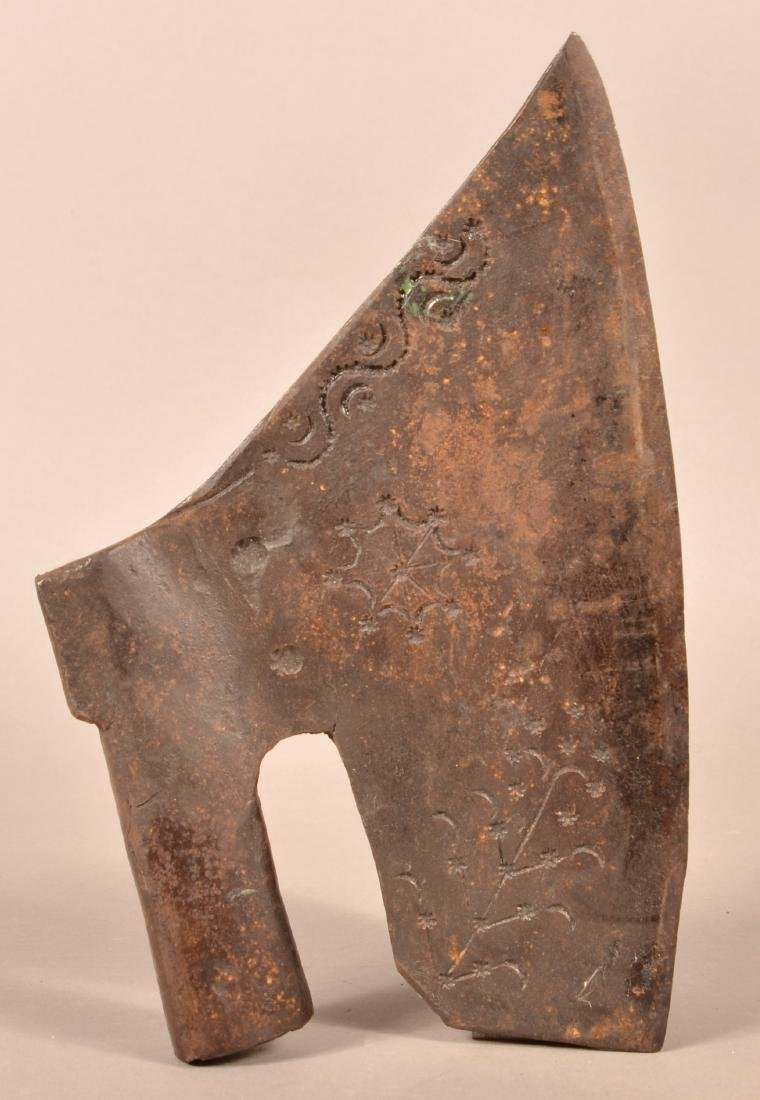 18th Cent. Wrought Iron Goose-wing Broad-axe.