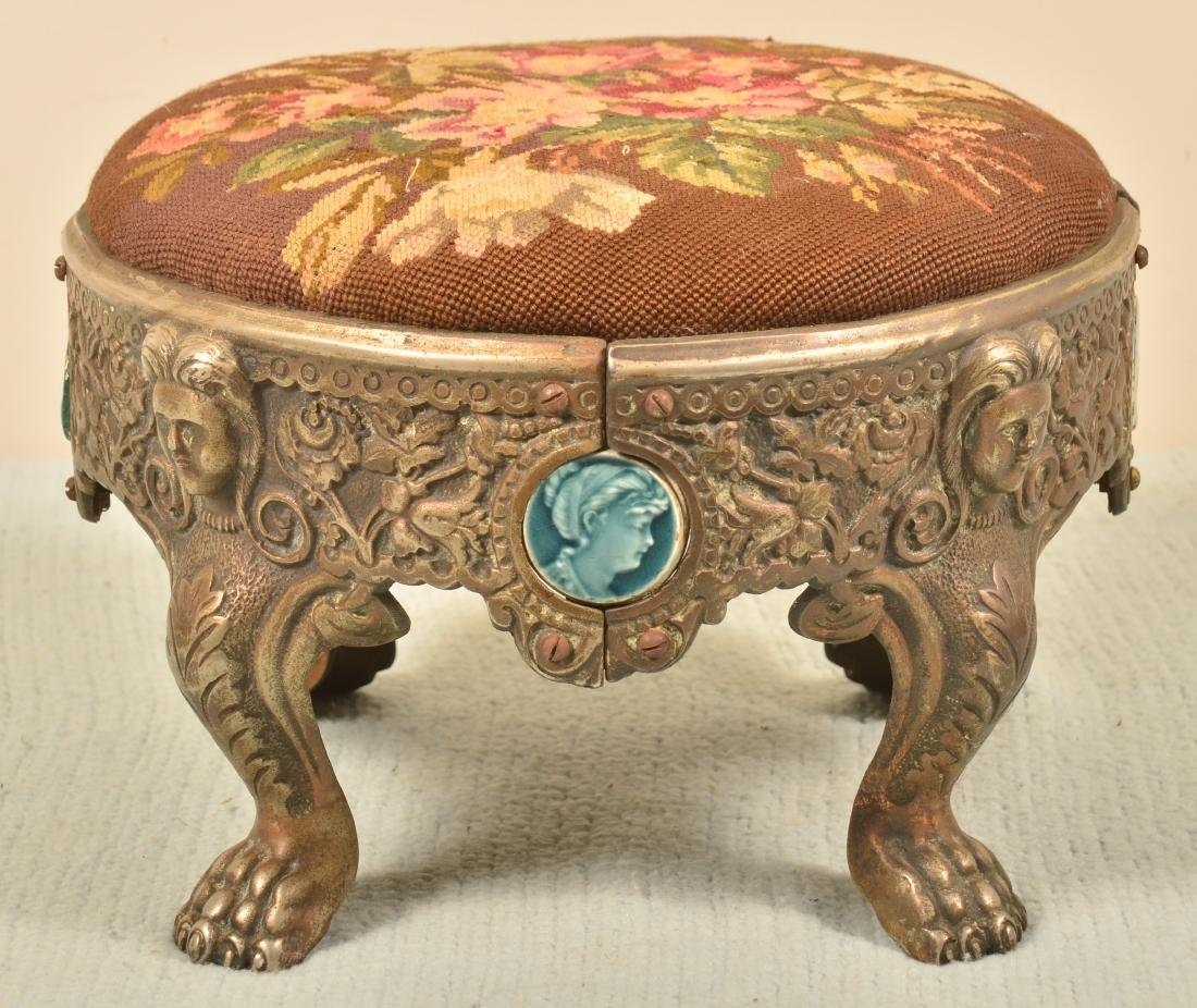 Antique Cast Iron Footstool.